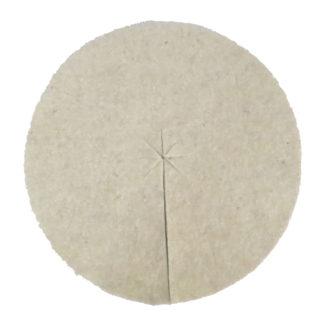 Mulchscheiben aus Schafschurwolle ca. 2,5mm dick