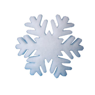 Schneeflocken aus Schneewatte