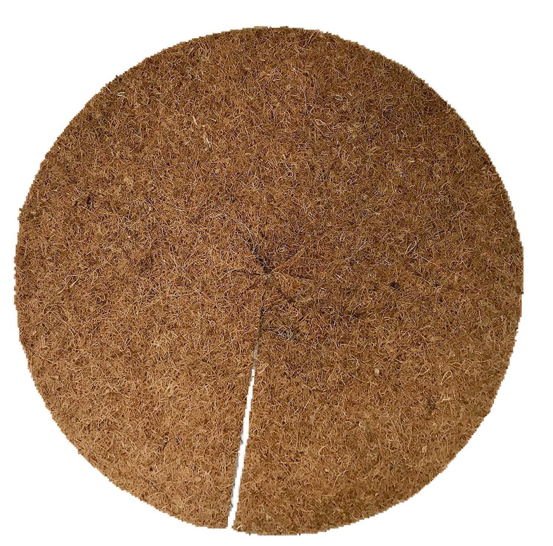 Paillis Noix De Coco disques de paillage 100% noix de coco, paquet de 50, diamètre: 30 cm,  environ 0,7 cm d'épaisseur