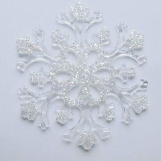 Schneeflocken aus Acryl